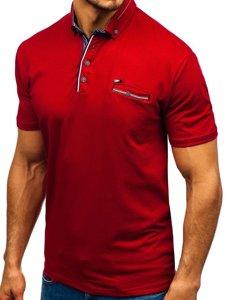 Koszulka polo męska bordowa Denley 192037