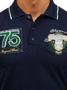 Koszulka polo męska granatowa Denley 0605