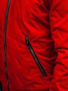Kurtka męska przejściowa bomberka czerwona Denley 5621