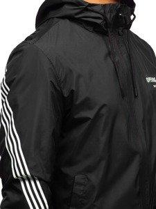 Kurtka męska przejściowa czarna Denley 5687