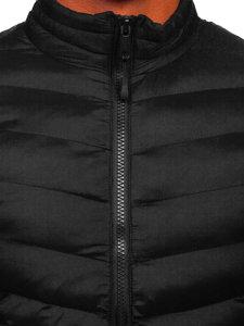 Kurtka męska przejściowa sportowa czarna Denley SM70