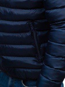 Kurtka męska przejściowa sportowa granatowo-niebieska Denley SM17