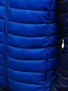 Kurtka męska przejściowa sportowa niebieska Denley SM15