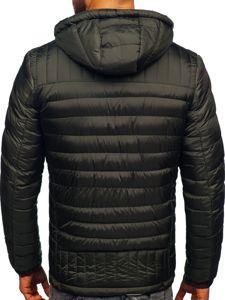 Kurtka męska przejściowa sportowa pikowana khaki Denley 50A94