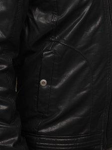 Kurtka męska skórzana czarna Denley EX839