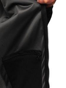 Kurtka męska softshell czarna Denley T019