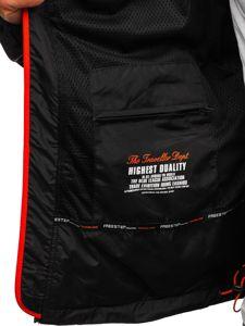Kurtka męska softshell czarno-pomarańczowa Denley 5612