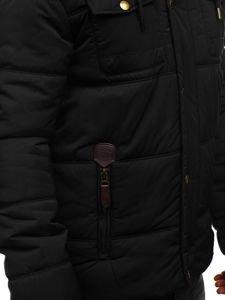 Kurtka męska zimowa czarna Denley 1665