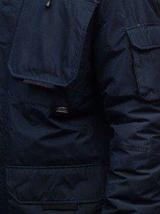 Kurtka męska zimowa granatowa Denley 201802