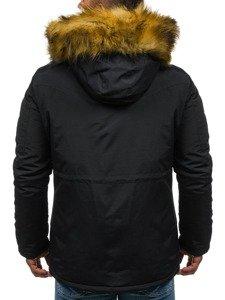Kurtka męska zimowa parka czarna Denley 4602