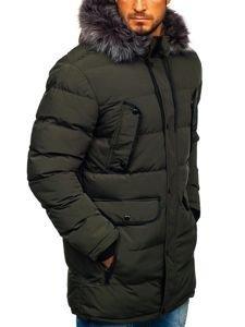 Kurtka męska zimowa parka khaki Denley 1091