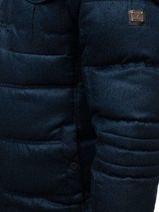 Kurtka męska zimowa sportowa pikowana granatowa Denley AB104