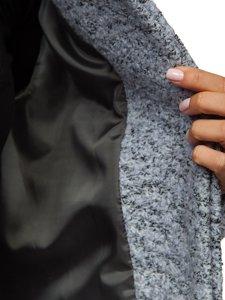 Płaszcz damski szary Denley 6011-1
