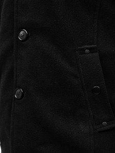 Płaszcz męski czarny Denley 8853A