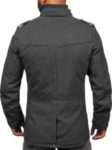 Płaszcz męski szary Denley 8856