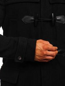 Płaszcz męski zimowy budrysówka czarny Denley 88870