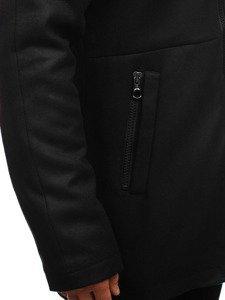 Płaszcz męski zimowy czarny Denley 3128