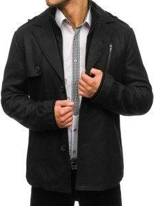 Płaszcz męski zimowy czarny Denley 3131