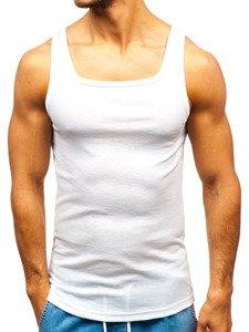 Podkoszulek męski bez nadruku biały Denley C10048