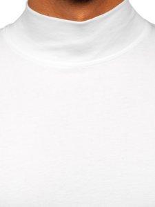 Półgolf męski bez nadruku biały Denley 145348