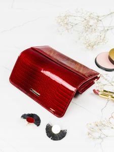 Portfel damski skórzany czerwony 2095