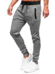 Spodnie dresowe męskie grafitowe Denley AK13