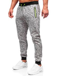 Spodnie dresowe męskie szare Denley 55037