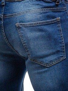 Spodnie jeansowe joggery męskie granatowe Denley 2043