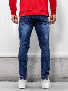 Spodnie jeansowe joggery męskie granatowe Denley HY621