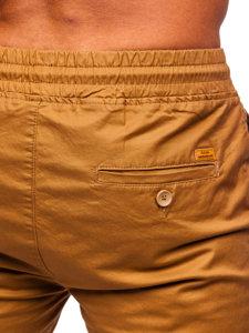 Spodnie joggery męskie brązowe Denley KA951
