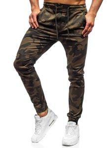 Spodnie joggery męskie moro-khaki Denley KA351