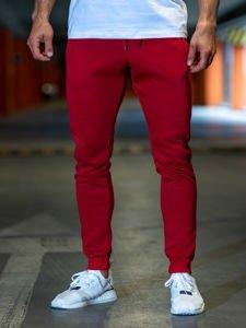 Spodnie męskie dresowe bordowe Denley XW01