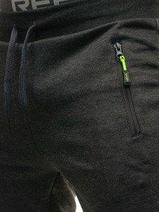 Spodnie męskie dresowe grafitowe Denley JX9292