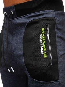 Spodnie męskie dresowe granatowe Denley TC848
