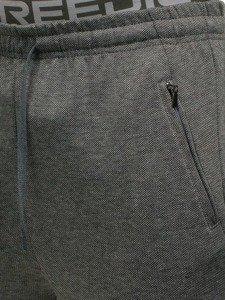 Spodnie męskie dresowe szare Denley W2795