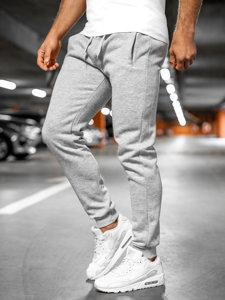 Spodnie męskie dresowe  szare Denley XW01-A