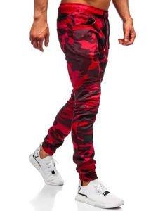 Spodnie męskie moro-czerwone Denley 0829