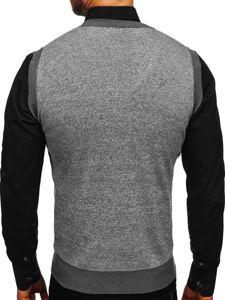 Sweter męski bez rękawów szary Denley 8131