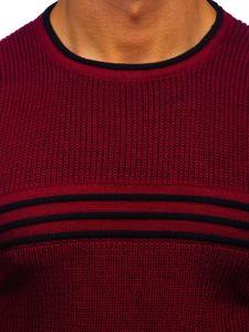 Sweter męski bordowy Denley 0001