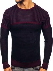 Sweter męski bordowy Denley 1013
