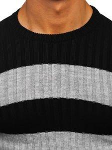 Sweter męski czarny Denley 4516