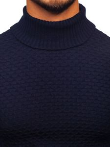 Sweter męski golf granatowy Denley 322