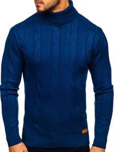 Sweter męski golf niebieski Denley 5021