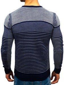 Sweter męski granatowo-biały Denley 1015