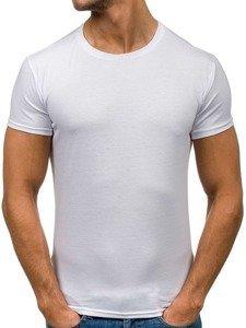 T-shirt męski bez nadruku biały Denley 2011