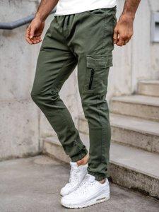 Zielone spodnie joggery bojówki męskie Bolf 11104